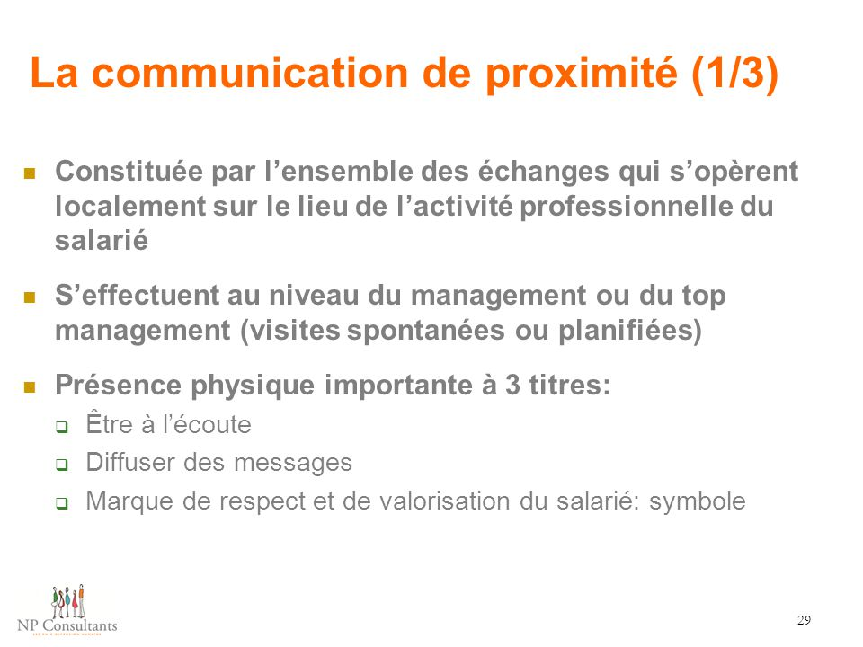 La communication de proximité (1/3)