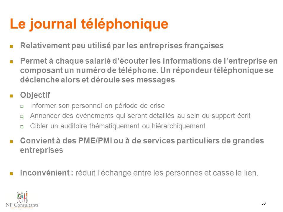 Le journal téléphonique
