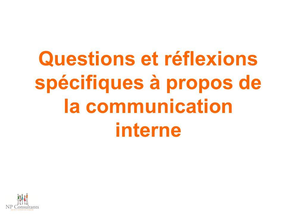 Questions et réflexions spécifiques à propos de la communication interne