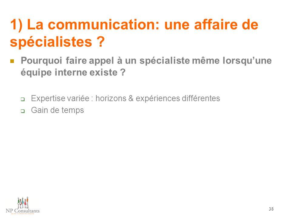 1) La communication: une affaire de spécialistes
