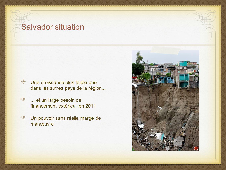 Salvador situation Une croissance plus faible que dans les autres pays de la région... ... et un large besoin de financement extérieur en 2011.