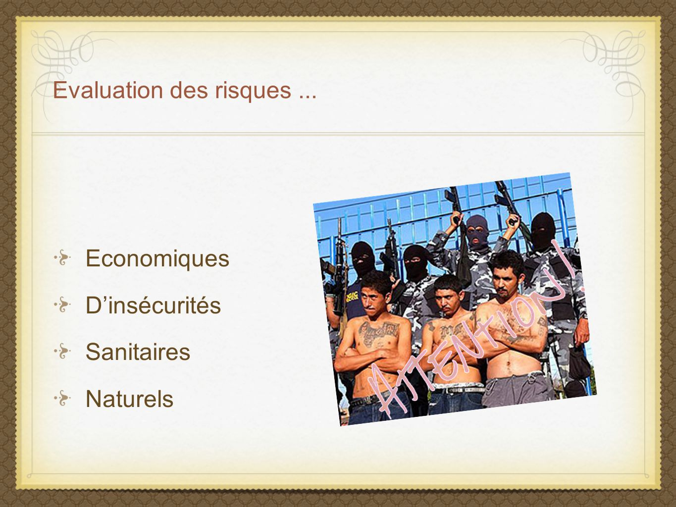 Evaluation des risques ...