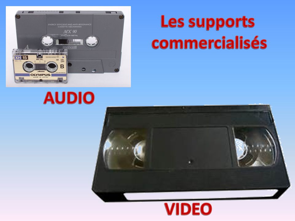 Les supports commercialisés AUDIO VIDEO