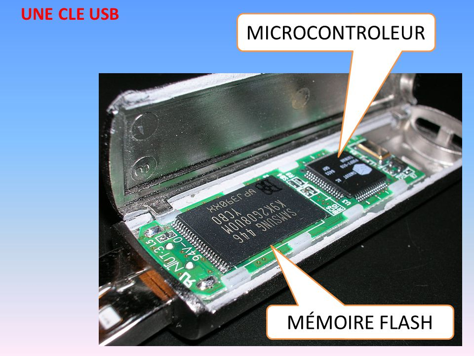 UNE CLE USB MICROCONTROLEUR MÉMOIRE FLASH