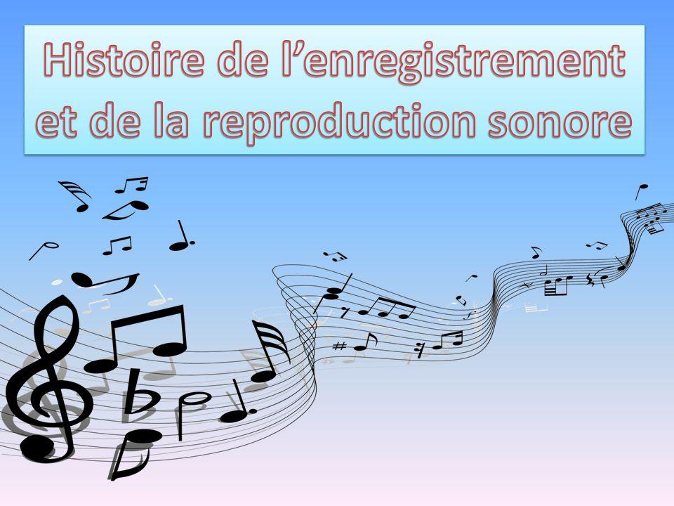 Histoire de l'enregistrement et de la reproduction sonore