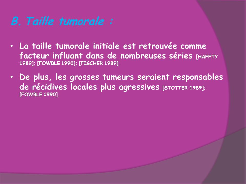 Taille tumorale :