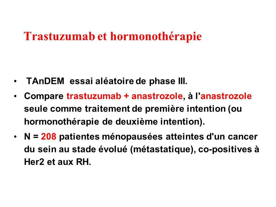 Trastuzumab et hormonothérapie