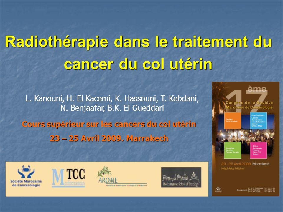 Radiothérapie dans le traitement du cancer du col utérin