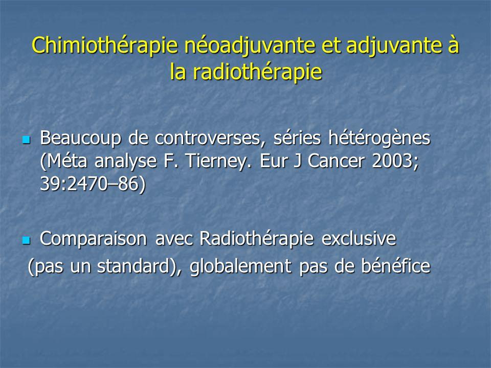 Chimiothérapie néoadjuvante et adjuvante à la radiothérapie