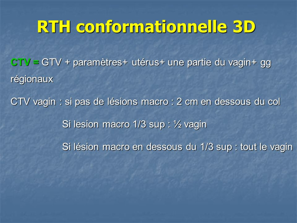 RTH conformationnelle 3D