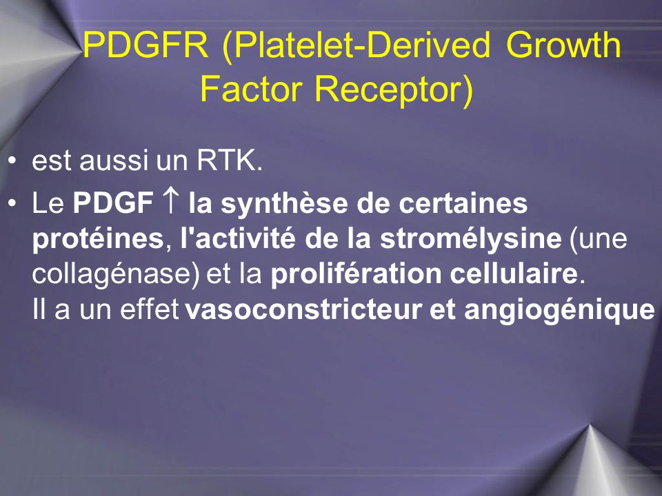 PDGFR (Platelet-Derived Growth Factor Receptor)