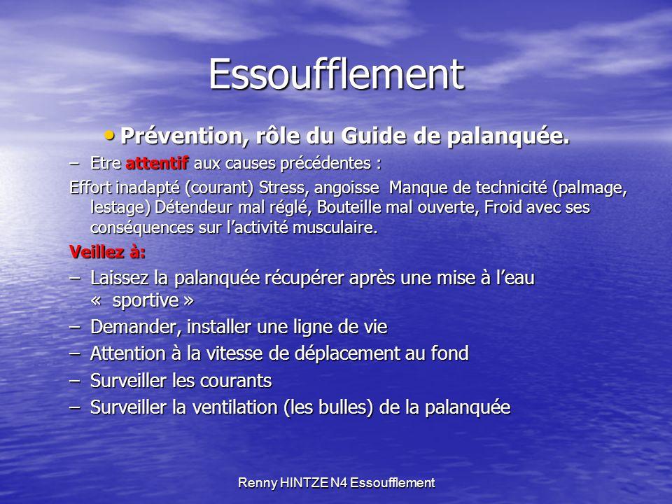 Renny HINTZE N4 Essoufflement