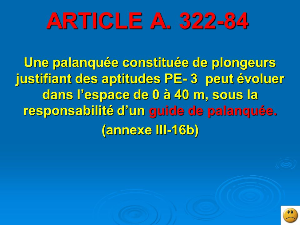 ARTICLE A. 322-84
