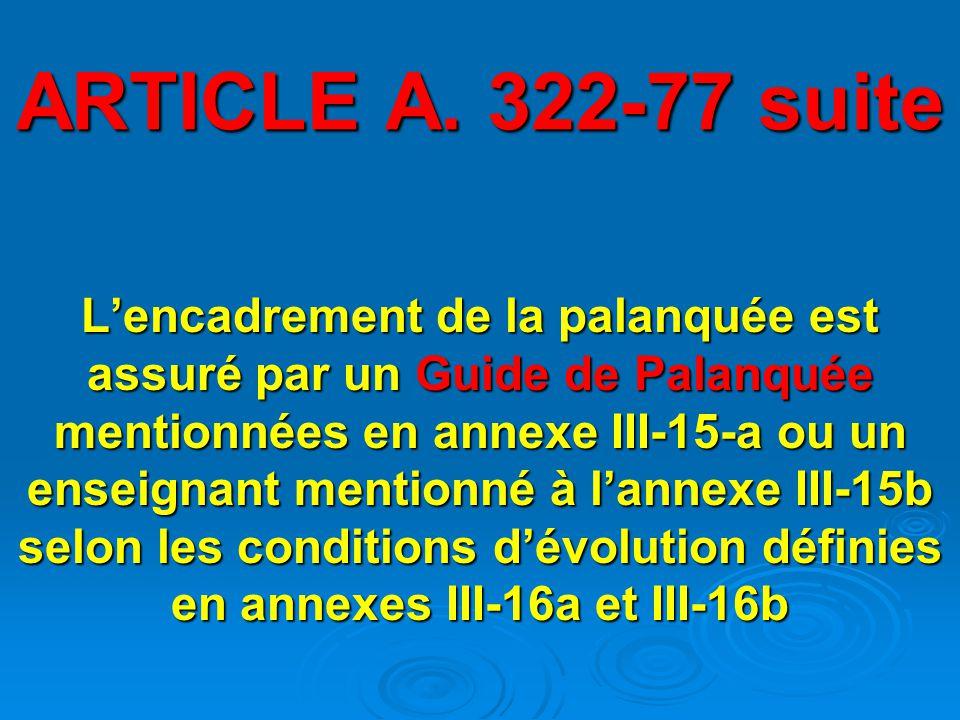 ARTICLE A. 322-77 suite
