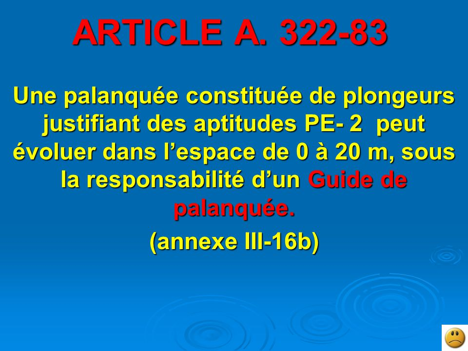 ARTICLE A. 322-83