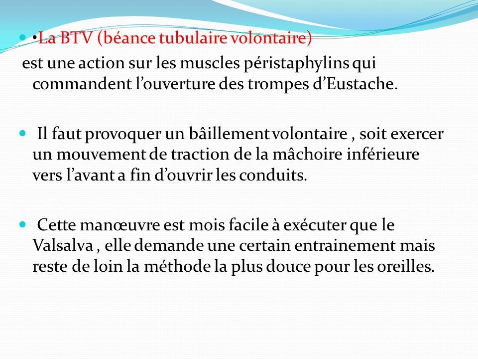 •La BTV (béance tubulaire volontaire)
