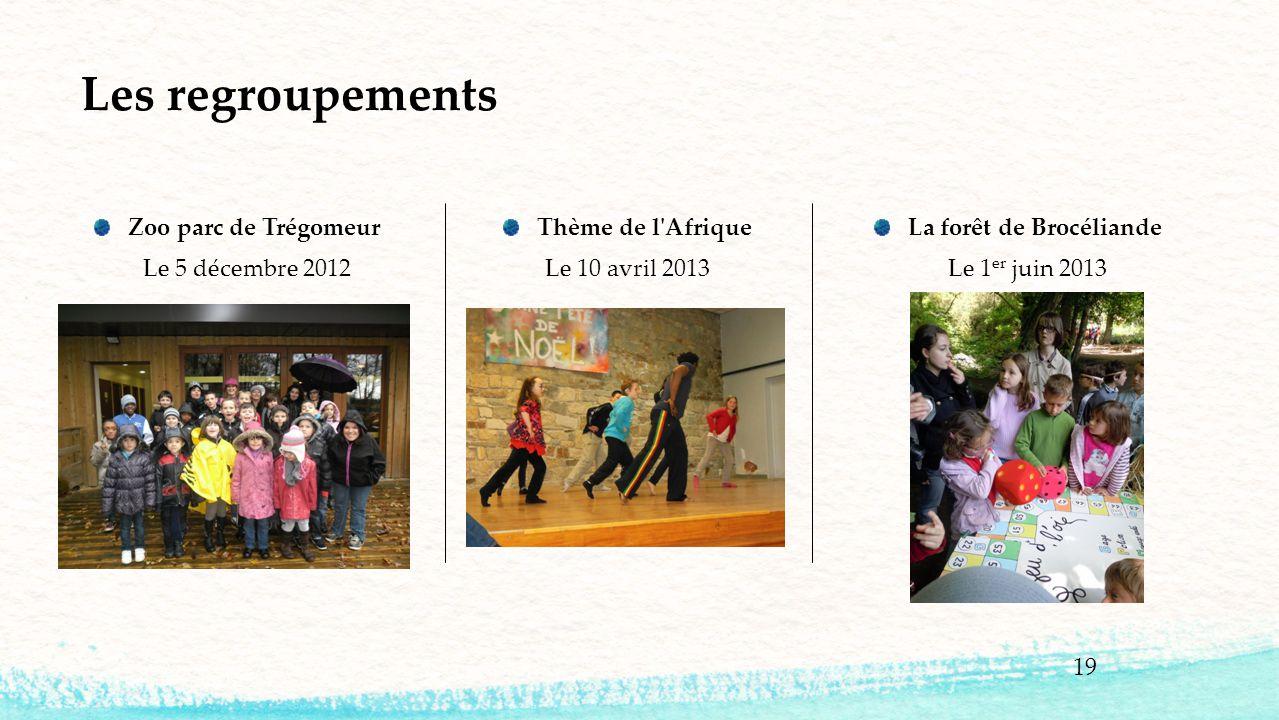 Les regroupements Zoo parc de Trégomeur Le 5 décembre 2012
