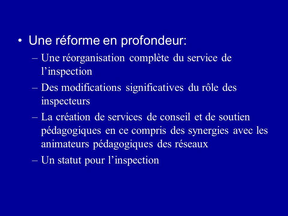 Une réforme en profondeur: