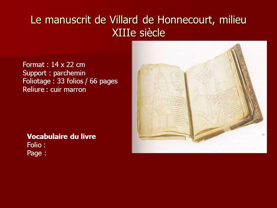 Le manuscrit de Villard de Honnecourt, milieu XIIIe siècle