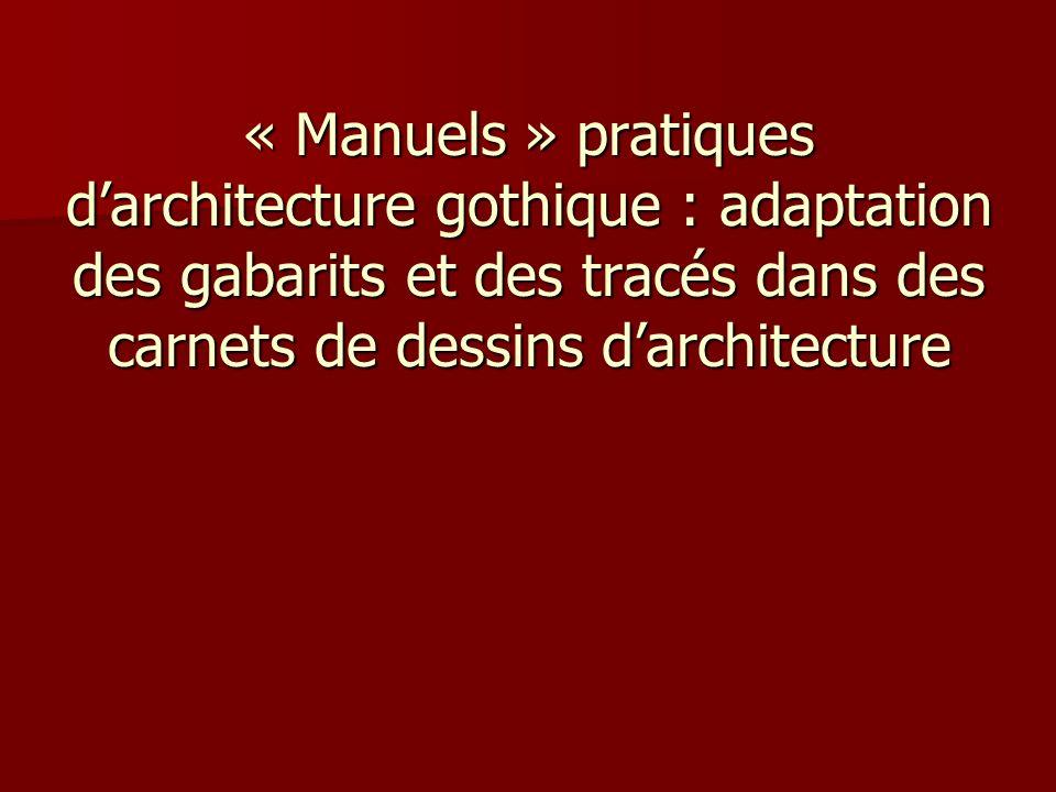 « Manuels » pratiques d'architecture gothique : adaptation des gabarits et des tracés dans des carnets de dessins d'architecture