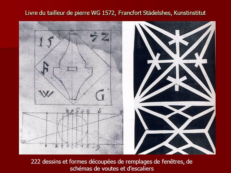 Livre du tailleur de pierre WG 1572, Francfort Städelshes, Kunstinstitut