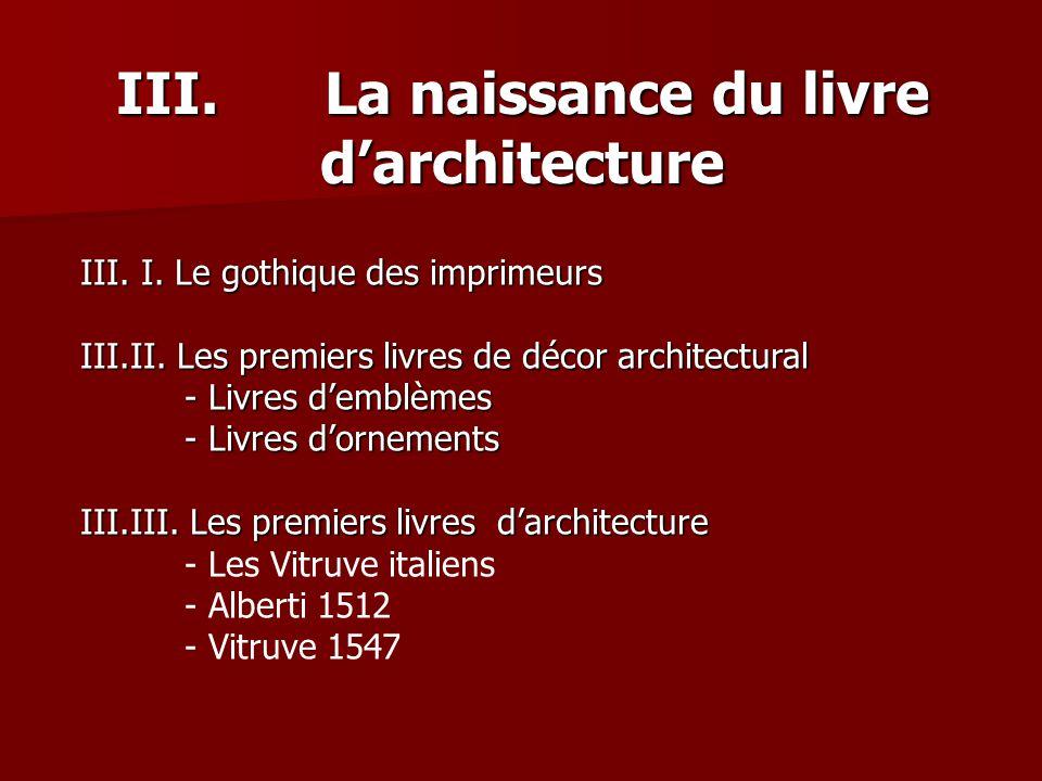 III. La naissance du livre d'architecture