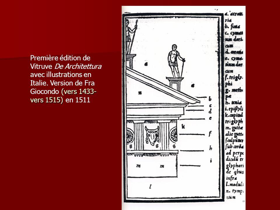 Première édition de Vitruve De Architettura avec illustrations en Italie.
