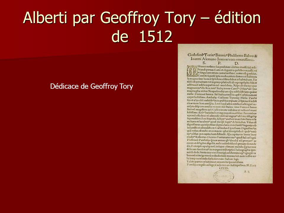 Alberti par Geoffroy Tory – édition de 1512