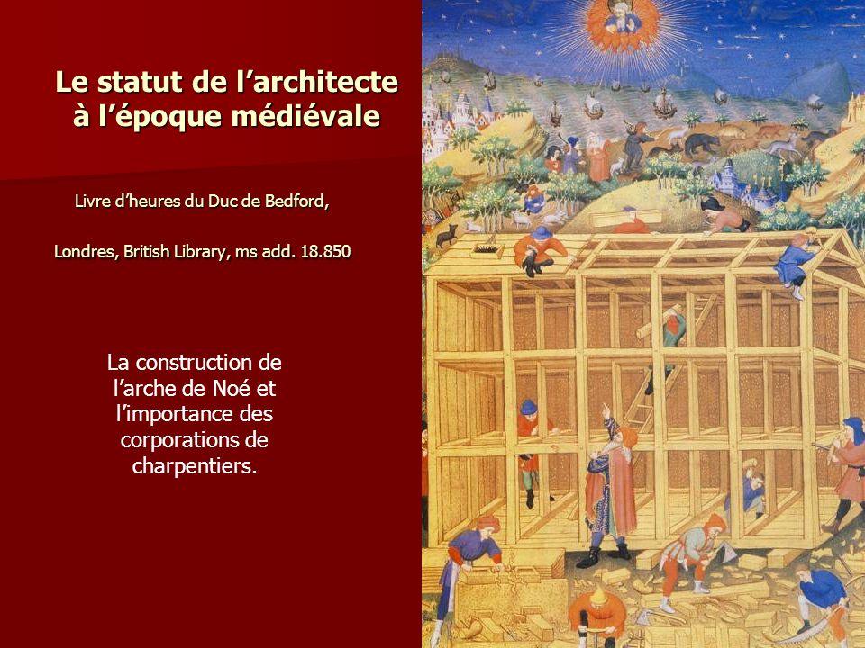 Le statut de l'architecte à l'époque médiévale