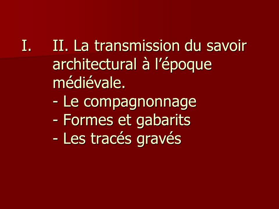 II. La transmission du savoir architectural à l'époque médiévale