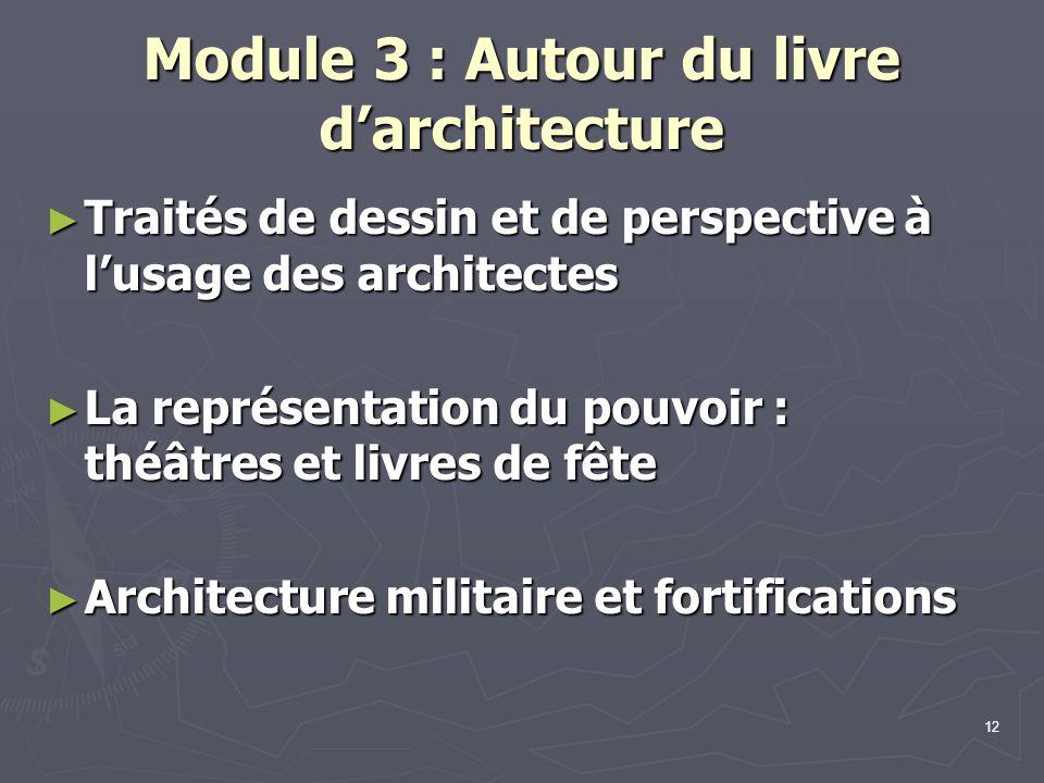 Module 3 : Autour du livre d'architecture