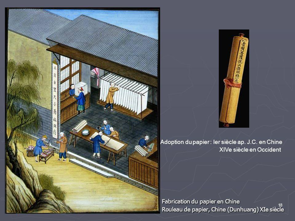 Adoption du papier : Ier siècle ap. J.C. en Chine