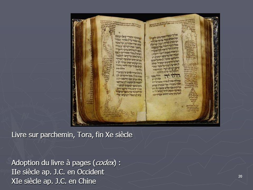 Livre sur parchemin, Tora, fin Xe siècle