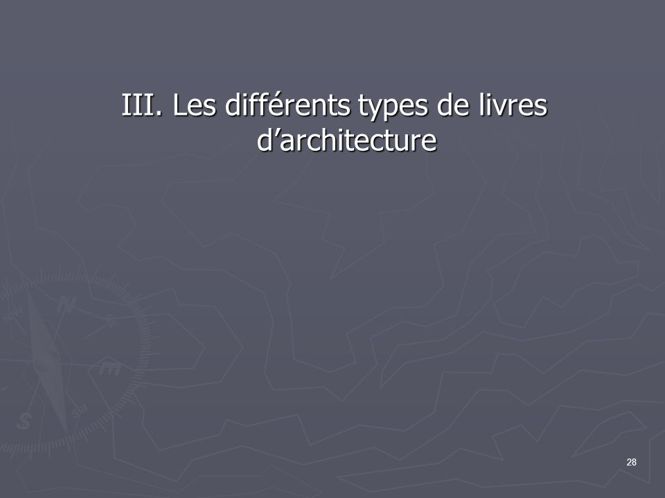 III. Les différents types de livres d'architecture