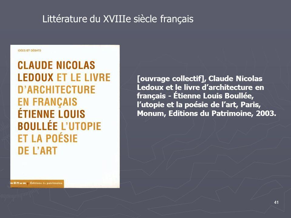Littérature du XVIIIe siècle français