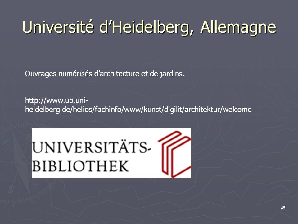 Université d'Heidelberg, Allemagne