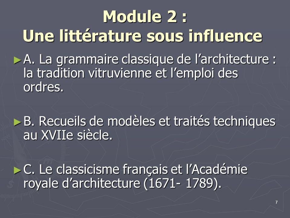 Module 2 : Une littérature sous influence