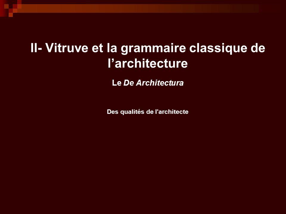 La grammaire classique de l architecture la tradition for Architecture classique definition