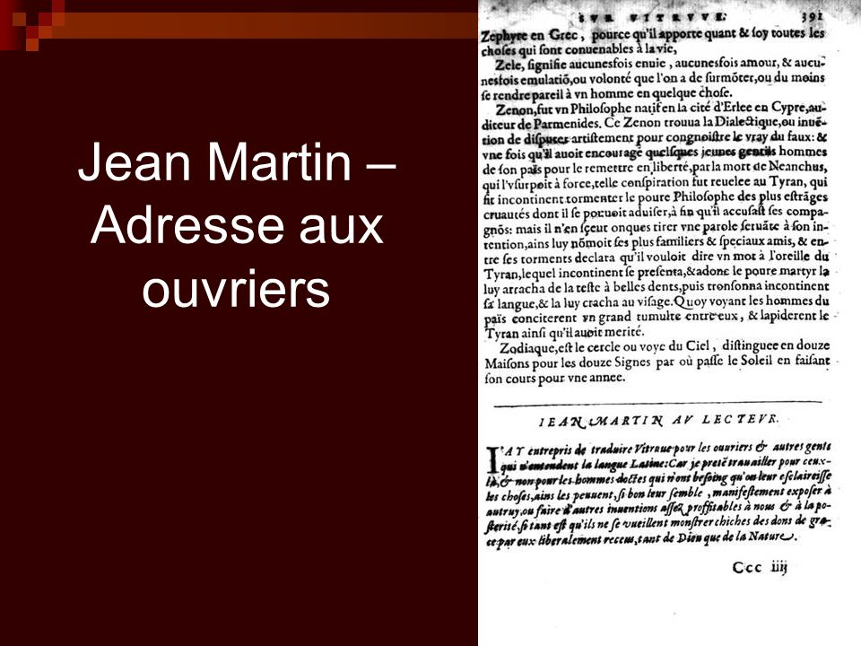 Jean Martin – Adresse aux ouvriers
