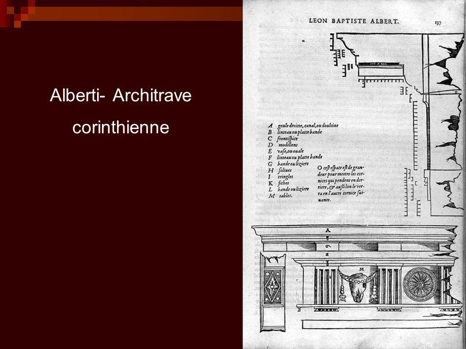Alberti- Architrave corinthienne