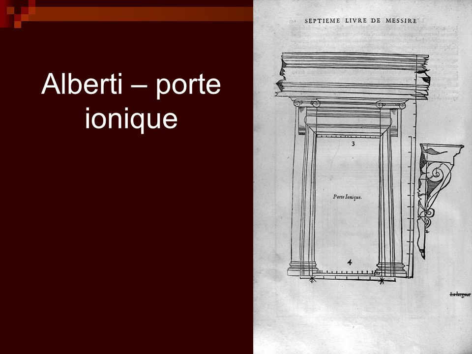 Alberti – porte ionique