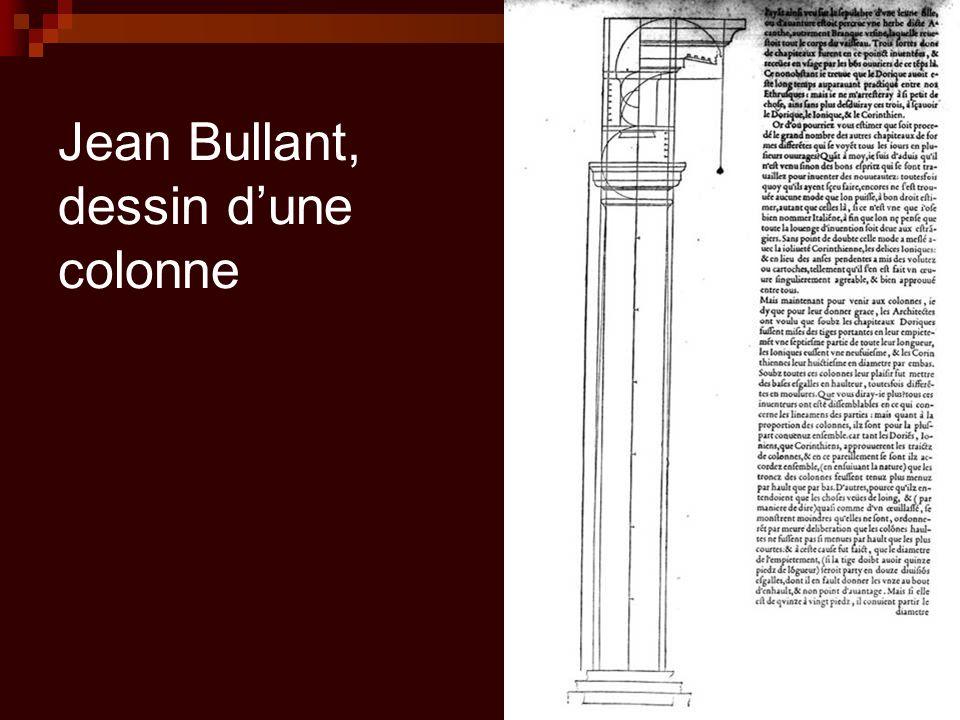 Jean Bullant, dessin d'une colonne