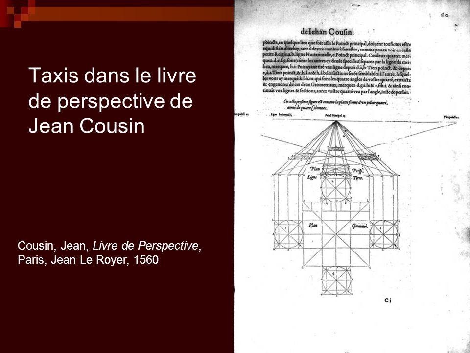 Taxis dans le livre de perspective de Jean Cousin