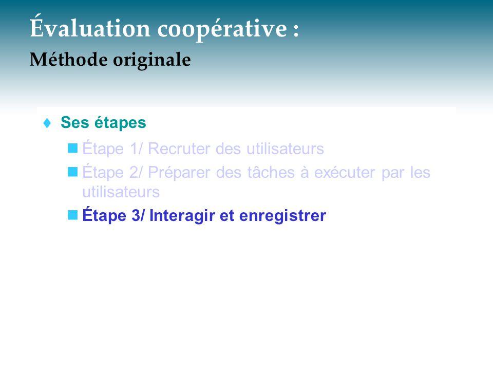 Évaluation coopérative : Méthode originale