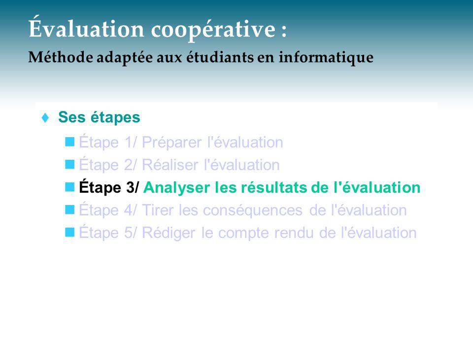 Évaluation coopérative : Méthode adaptée aux étudiants en informatique