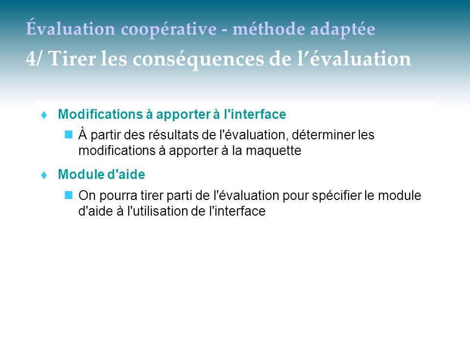 Évaluation coopérative - méthode adaptée 4/ Tirer les conséquences de l'évaluation