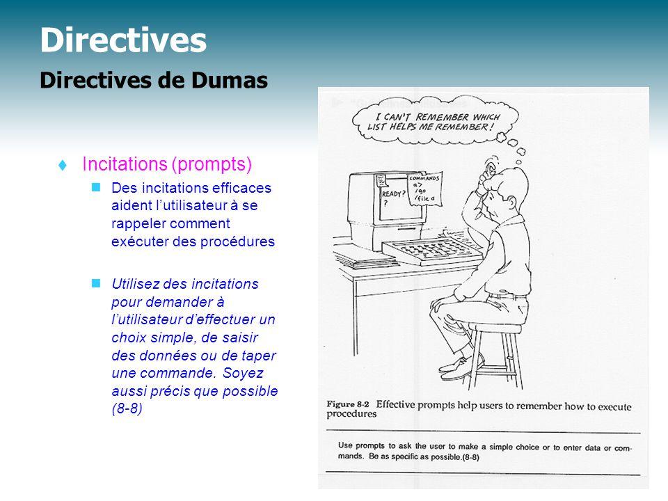 Directives Directives de Dumas