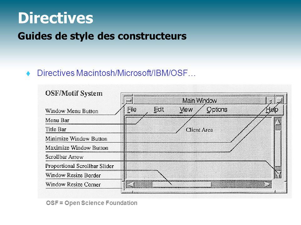 Directives Guides de style des constructeurs