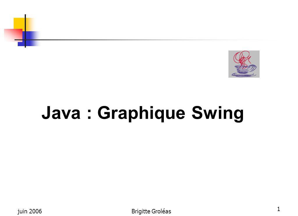 Java : Graphique Swing juin 2006 Brigitte Groléas