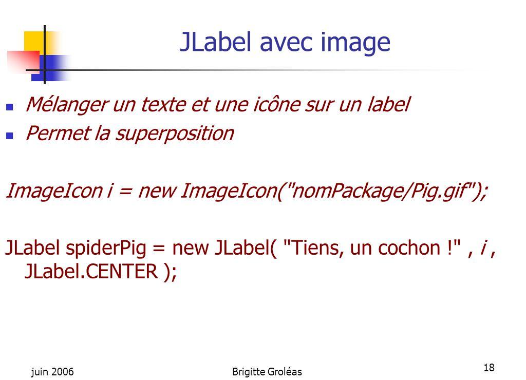 JLabel avec image Mélanger un texte et une icône sur un label
